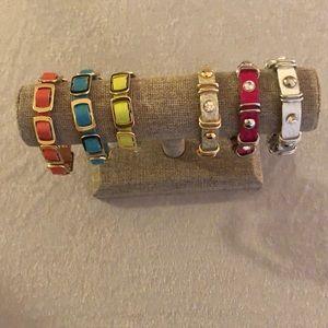 Jewelry - NWT BRACELETS with snap closure!
